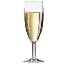 6 Champagne Flute Glazen