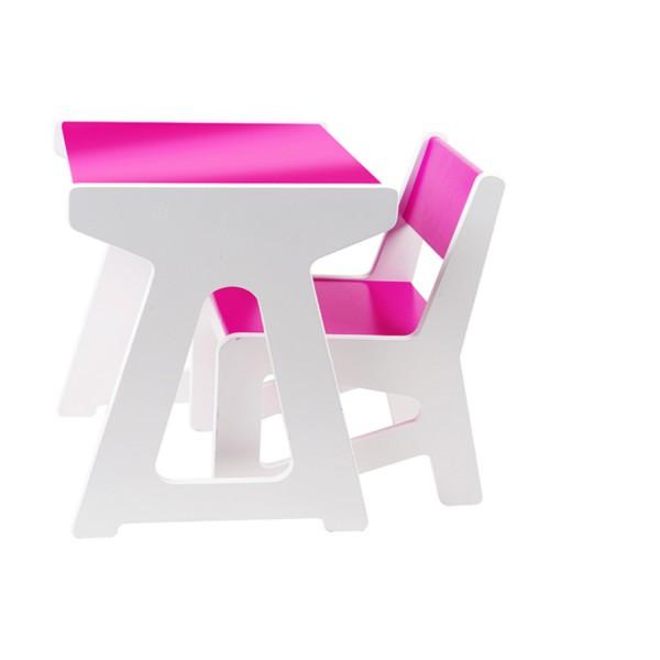 J i p mini tafel stoel set roze - Tafel roze kind ...