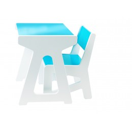 J.i.P. Mini Tafel + Stoel Set Blauw