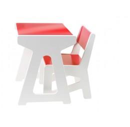 J.i.P. Mini Tafel + Stoel Set Rood