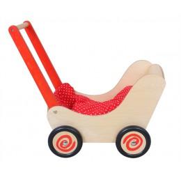 Poppenwagen Rood