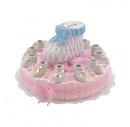 Babyschoen Roze Taart