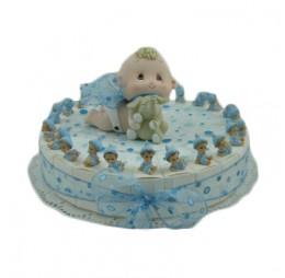 Baby Blauw Mini Taart
