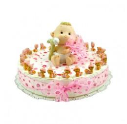 Baby Roze Mini Taart