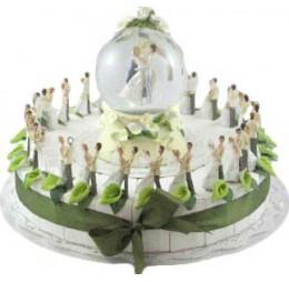 Bruidspaar Lelie Taart