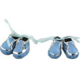 Bedankje Zilver Schoentjes Blauw