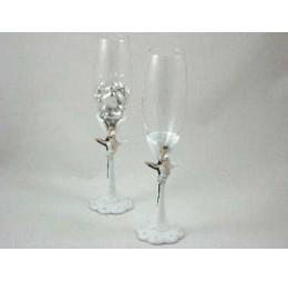 Champagne Glazen Bruidspaar