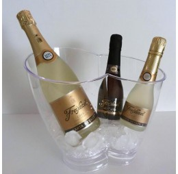 Champagnepakket met Transparante Koeler Duo met Cava