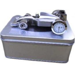 Klok Raceauto Zilver