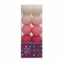 Cotton Balls Lichtslinger Roze