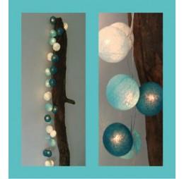 Cotton Balls Lichtslinger lichtsnoer blauw aqua