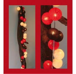 Cotton Balls Lichtslinger Rood Zwart Wit
