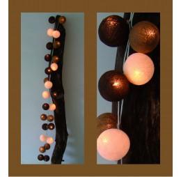 Cotton Balls Lichtslinger Zwart Wit Taupe