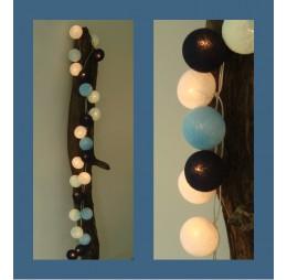 Cotton Balls Lichtslinger Blauw Zwart Wit
