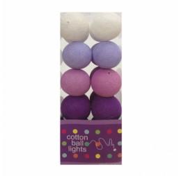 Cotton Balls Lichtslinger Paars