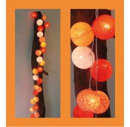 Cotton Balls Lichtslinger Oranje