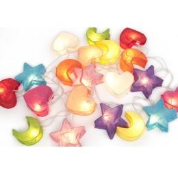 DreamLights Lichtsnoer Maan Hart Ster Multicolor