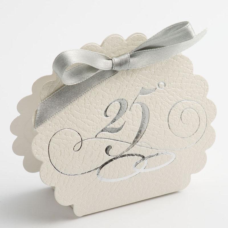 bedankje karton doosje 25 jaar getrouwd
