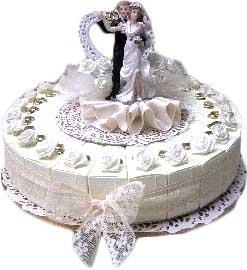 taart bedankje huwelijk bruiloft