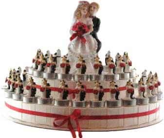 bedankje bruidstaart trouwen