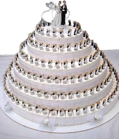 bedankje taart hoog huwelijk