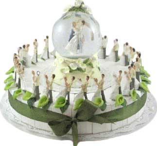 bedankjes taart huwelijk